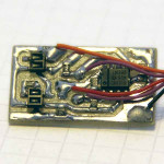 Schmitt-triggered proximity detectors on a milled PCB